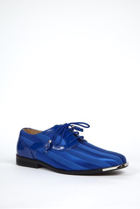 Buy SS-8523 Mens Dress Shoes Available royal & Purple Color