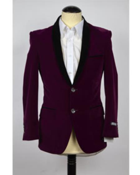 Velvet Blazer Jacket Purple