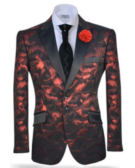 Sport Coat/Blazer Splash Red
