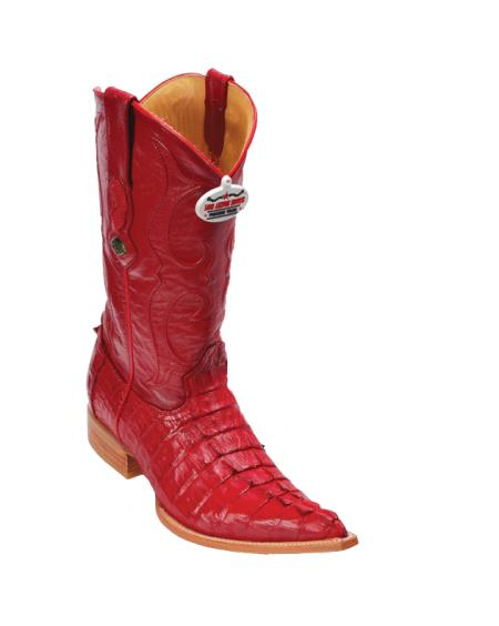 Buy RRV3 Los Altos Red caiman ~ World Best Alligator ~ Gator Skin Tail Cowboy Boots