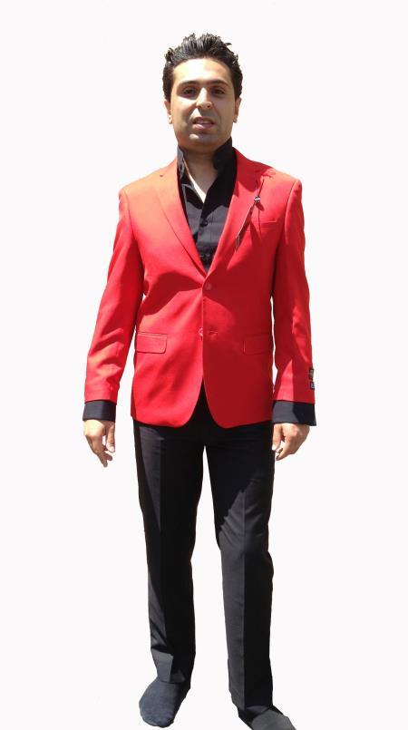 Men's Stylish Sportcoat/ Cheap Priced Men's Wholesale Blazer Jacket For Men in Hot Red Color