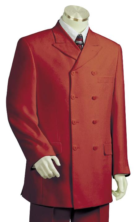 SKU#KN7761 Mens Luxurious Deep Red Zoot Suit