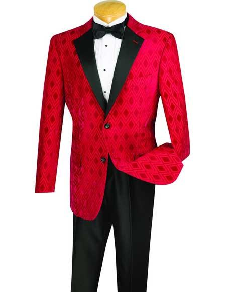 New Vintage Tuxedos, Tailcoats, Morning Suits, Dinner Jackets Mens Red Plaid  Windowpane Shawl Lapel Dinner Blazer  Sportcoat Jacket $110.00 AT vintagedancer.com