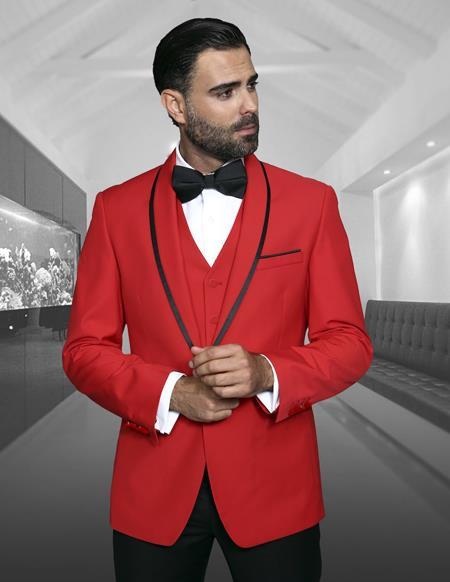 Mens Cheap Priced Blazer Jacket For Men Dinner Jacket Sport Coat Red