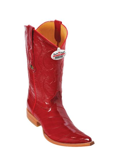 Buy LP3S Los Altos Red Eel XXX-Toe Cowboy Boots