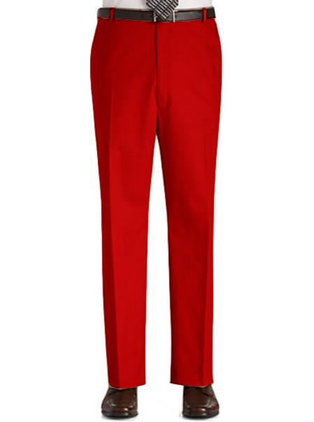 Men's Red Stage Party Pants Trousers Slacks