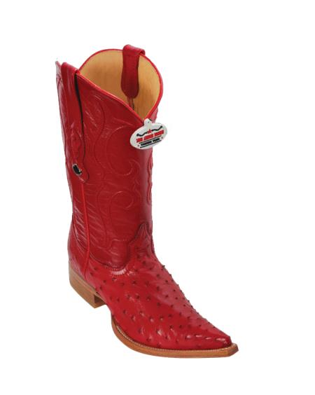 Buy U4U5 Los Altos Red Ostrich Cowboy Boots