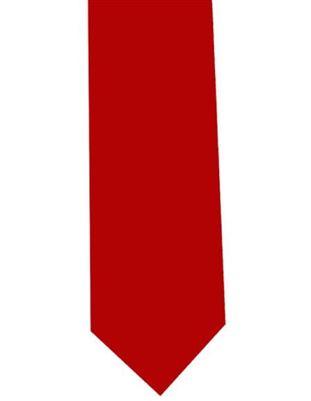 Mens Red Extra Long Polyester Neck Tie