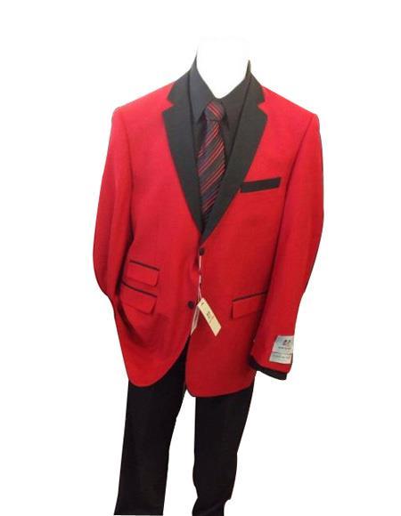 Men's Red Ticket Pocket  Long Sleeve Jacket
