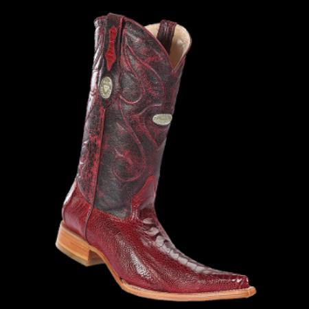 Buy KA6346 New Reg: $795 discounted sale clearance diamonds Boots-Men's Ostrich Leg Red XXX 3x-Toe Cowboy Boots