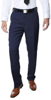 Men's Navy Hemmed and Unhemmed Premium Quality Dress Pants
