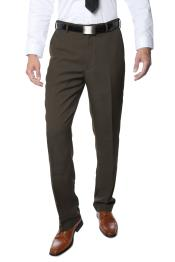 Buy RM1126 Mens Premium Quality Regular Fit Formal & Business Flat Front Dress Pants Taupe