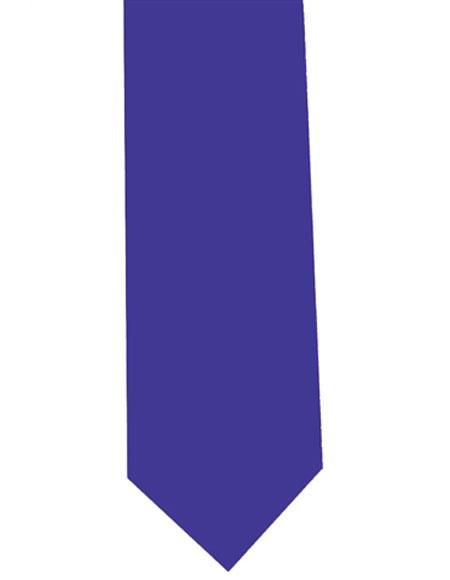 Royal Blue Extra Long Mens Polyester Neck Tie