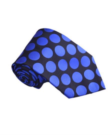 Longstry Mens Royal Blue Polyester Fashion Jacquard Woven Design By Milano Moda