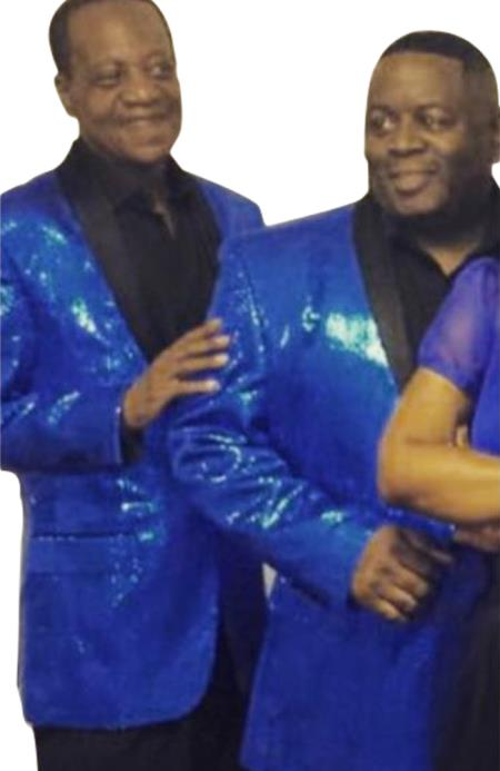 Alberto Nardoni Royal Blue Shiny Sequin Tuxedo Black Lapel paisley look sport jacket ~ coat
