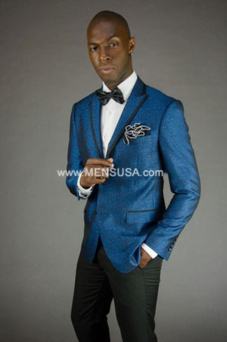SKU#RM1870 Mens Royal Blue Suit or Tuxedo Formal Looking Blazer & Sport Coat & Jacket