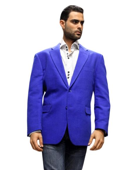 Royal Sport Coat It's One of a Kind Super 150's For All Occasion Velvet Fabric Jacket