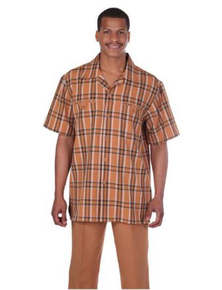 Check Pattern Walking Suit