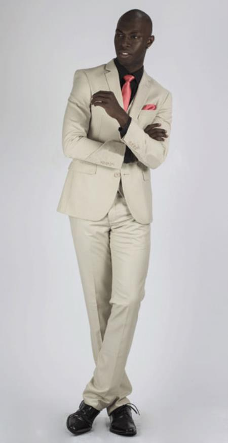 Mens Sand 3 Piece suit