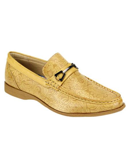Mens Casual Slip-On Loafer Scotch Fashionable Gold ~ Champeign Shoes