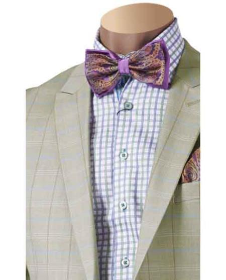 Seafoam Two-Piece Plaid Suit