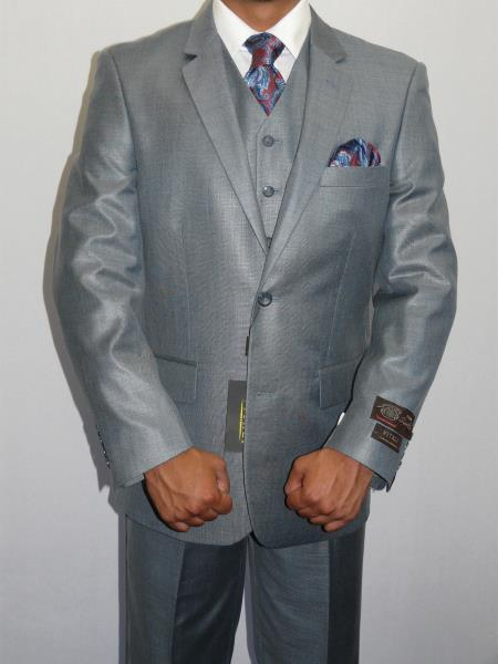 Mens Three Piece Vested