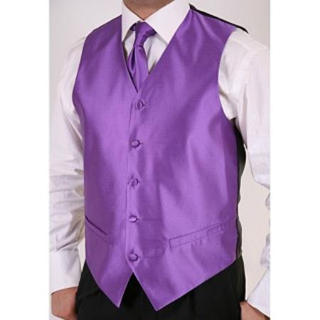 Purple 2-piece Vest Set