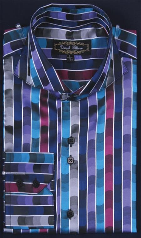 Men's Turquoise Shiny flashy Satin Luxurious Shirt