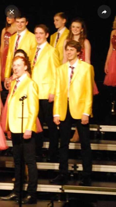 Mens Shiny Yellow Blazer