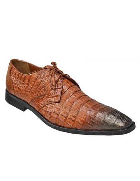 Los Altos Cognac / Black Shaded All Over Genuine Hornback Crocodile ~ World Best Alligator ~ Gator S