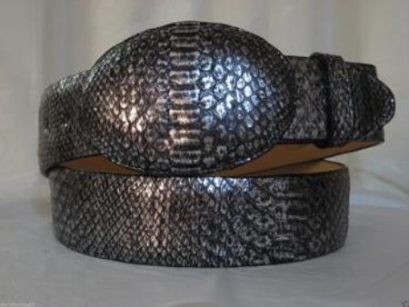 Silver Python Snake Western