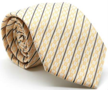 Mens Premium Single Ties Yellow