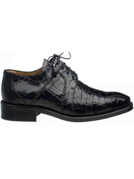 Ferrini Black Men's Full World Best Alligator ~ Gator Skin Dress Shoes