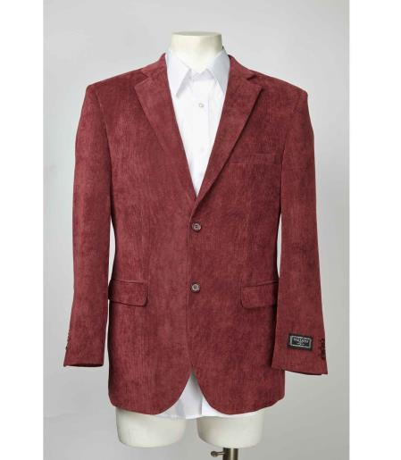 Maroon Two Button Men's Blazer  Slim Fit
