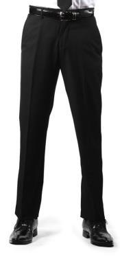 Men's Premium Slim Fit Flat Front Dress Men's Tapered Men's Dress Pants Black