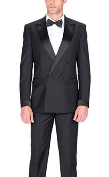 Slim Fit Solid Black