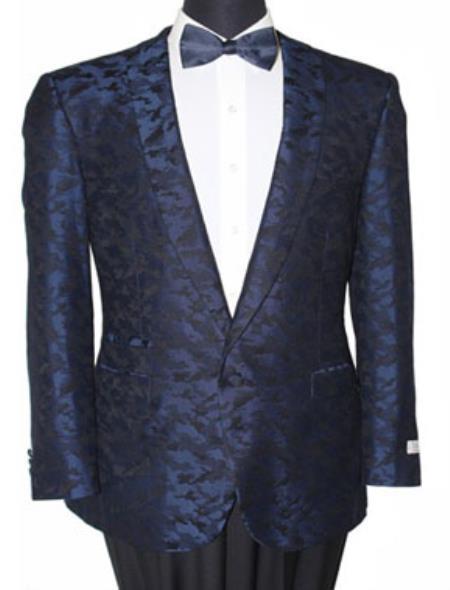 Men's Tazio Slim Fit Blazer Sport Jacket Blue