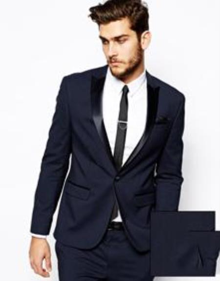 7b0b47409 Slim Fit Tuxedo Jacket Navy