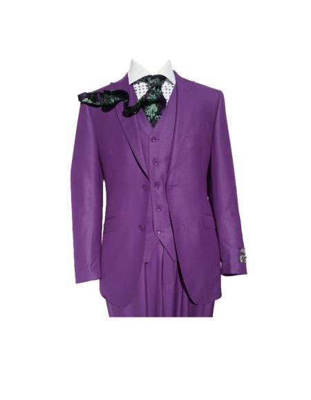 Piece Slim Fit Purple