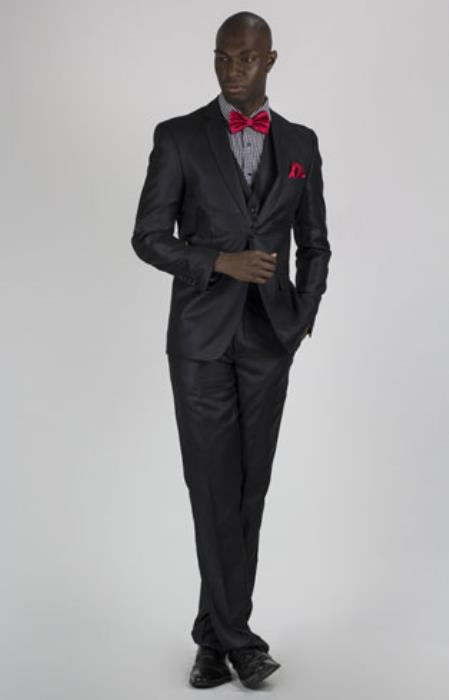 Mens Slim Fit Suit Black Affordable - Discounted Priced On Clearance Sale