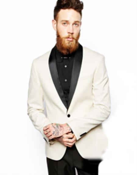 Fit Tuxedo Jacket White