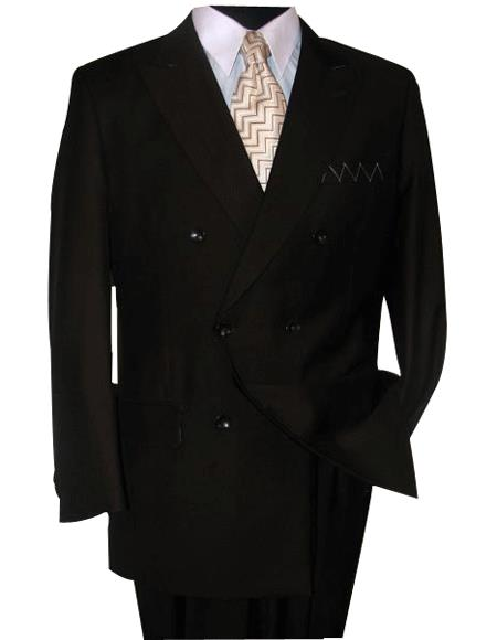 Soild Brown Double Breasted Suits Super 150'S wool Suit Hand Made