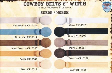Suede/Nobuk Cowboy Western Belts