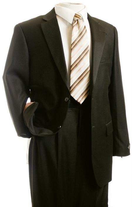 SKU#VF2420 Mens Suit Brown Pinstripe Designer affordable suit online sale