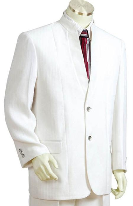 SKU#CN7787 Mens 2pc Suit Collection - Off White