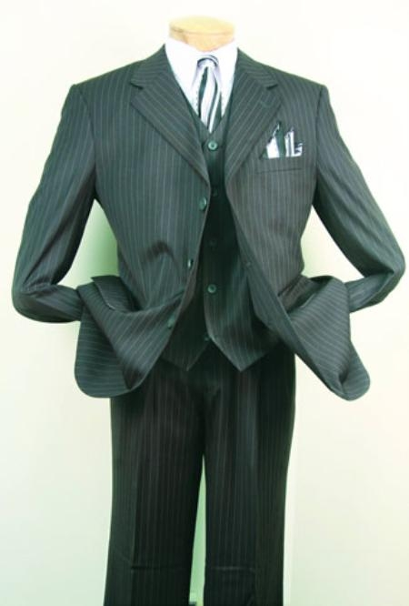 SKU#ME762 Mens Super 150s Luxurious Fashion three piece suit Charcoal