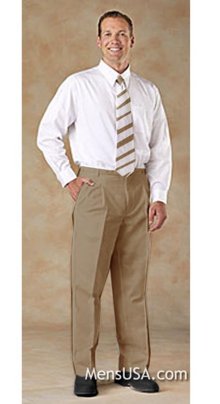 Mens Tan ~ Beige Comfortable fit Wrinkle free Shirt & Matching Tie