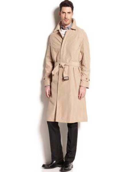 Men's Vintage Style Coats and Jackets Winter trench coat Rain Coat Tan $199.00 AT vintagedancer.com