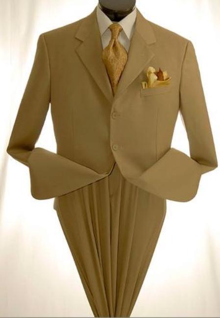 Mens Khaki~Tan ~ Beige Dress lightweight and comfortable