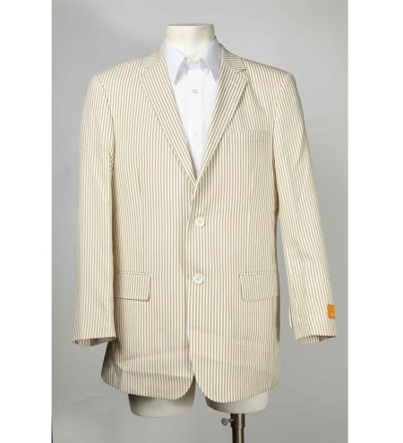 Taupe Mens seersucker ~ sear sucker Two Button Notch Lapel Cheap Priced Designer Fashion Dress Casual Blazer For Men On Sale